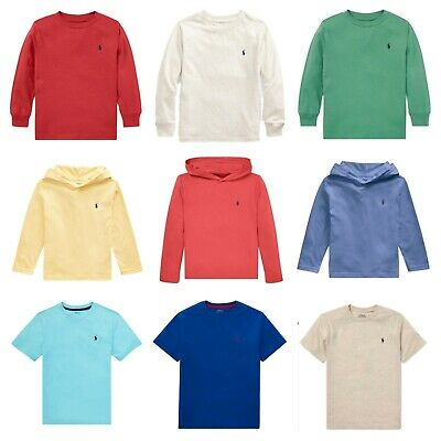 Genuine Ralph Lauren Polo Boys Short Long Sleeve T Shirt Top Age 2-16 WITH TAGS • 12.99£
