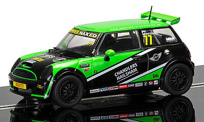 Scalextric Mini Cooper S No77 Mini Challenge 2015 Donington Park C3743 *New*  • 46£