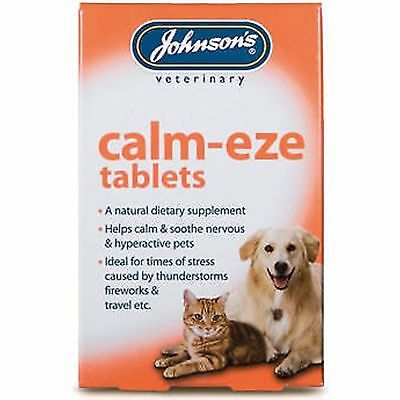 £4.10 • Buy Johnsons Calm-Eze 36 Tablets (Nervous Soothes Hyper Active Dog/Cat Remedy)