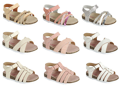$13.95 • Buy Baby Toddler Girls Sandals 3 Styles Open Toe Summer Beach Shoes Size 4 5 6 7 8