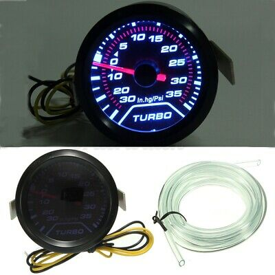 52mm Turbo Boost Pressure Pointer Gauge Meter Dials Smoked 30Psi LED • 11.78£