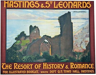 £5.13 • Buy Vintage Southern Railways Hastings And St Leonards Railway Poster A3 Print