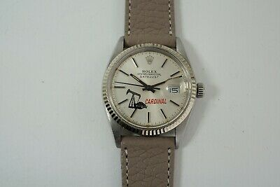 $ CDN5859.68 • Buy Rolex 16014 Datejust Logo Dial Cardinal Drilling Stainless Steel Nice Dates 1978