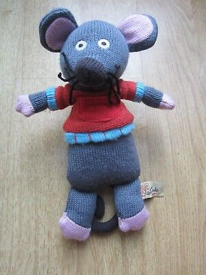 Latitude Enfant  Marie   The Mouse Grey Knitted Toy.Approx 10 Inches Tall • 8.95£