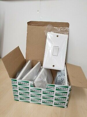50A DP Tall Cooker Connection White Switch White Square Frame Edge X 5 (M) • 14.99£