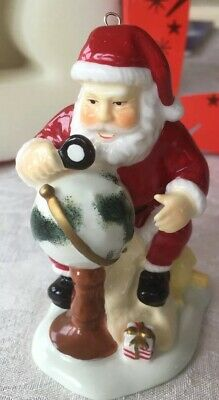 Beautiful Belleek Living Holiday Collection Santa Planning His Journey New Boxed • 35£