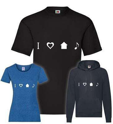 I Love House Music Icons T-Shirt / Pullover / Hoodie • 15.56£