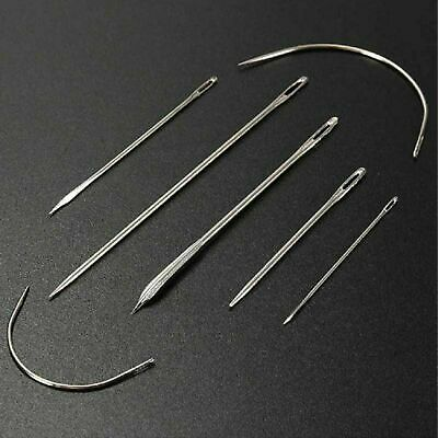 £2.20 • Buy 7pc Sewing Needles Repair Kit Upholstery Carpet Leather Curved Fabric Canvas Set