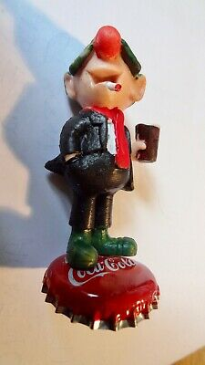 £12 • Buy Vintage Andy Capp  Figure CLASSIC COCA COLA  Schleich  Rare Standing On A TOP