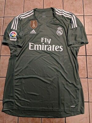 5706dbc82b3 Real Madrid 17/18 Home Goalkeeper Adizero Blank Jersey Men's Adidas GK NWT  Sz XL