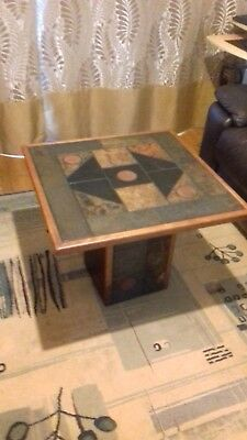 £203 • Buy Occasional Tables. Genuine African Slate. Mounted On Plinth. 3 Off. Various Size