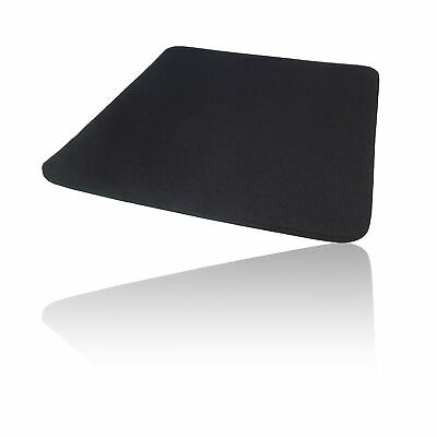 Hard Foam Cloth Covered PC Computer Mice Mouse Mat / Pad Black • 2.49£