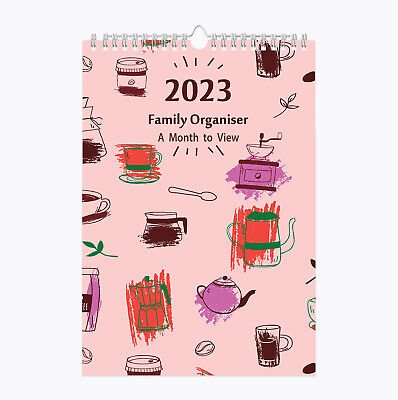 £9.99 • Buy 2022 Family Organiser Large A3 Spiral Planner Calendar 5 Columns Month To View
