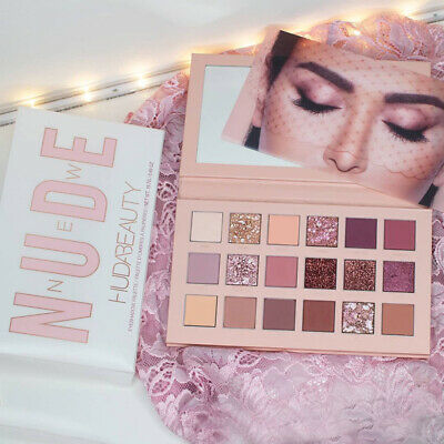 AU17.08 • Buy Huda Beauty Nude Eyeshadow Palette Glitter 18 Colours Makeup Cosmetics New