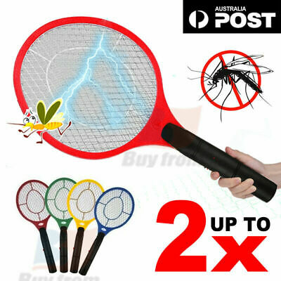 AU13.92 • Buy Electric Bug Zapper Tennis Racket Mosquito Fly Swatter Insect Killer Battery