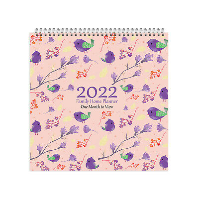 £9.49 • Buy 2022 Family Organiser/ Calendar - One Month To View Academic/Year Birds