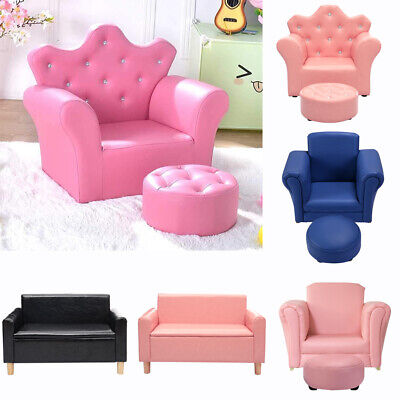 £49.95 • Buy Kids Children Sofa Set 2 Seater Settee Couch Chair Boys Girls Armchair Footstool