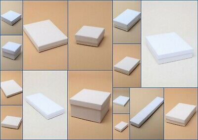 Jewellery Boxes White Card Flocked Pad Gift  Large Letter New  2cm Thickness  • 4.55£