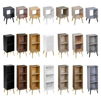 Wooden Storage Cube Bookcase Scandinavian Style Legs Living Room Bedroom Unit • 22.99£