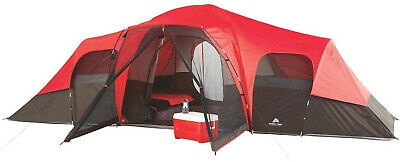 5ca2441ba6 Family Camping Tents 10 Person Large Outdoor Ozark Trail 3 Room Waterproof  • 121.91$