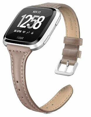 $ CDN13.67 • Buy Fitbit Versa Compatible Genuine Leather Replacement Band