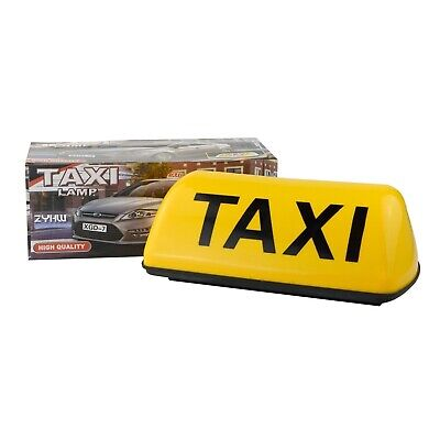 $17.99 • Buy 11inch TAXI Cab Sign Roof Top Topper Waterproof Car Magnetic Sign Lamp Light 12V
