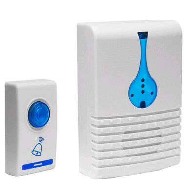 Single Wireless Door Bell 32 Chime Cordless Portable Digital LED 100m Free Range • 6.99£