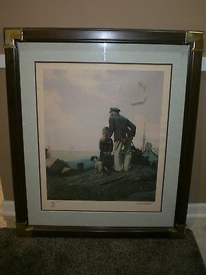 $ CDN626.60 • Buy 1983 Norman Rockwell Limited Edition Lithograph - Outward Bound 2285/2500