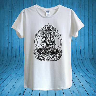 Buddha Monk Mendicant Ornament Yoga T-shirt Design Unisex Man Women Fitted • 10.95£