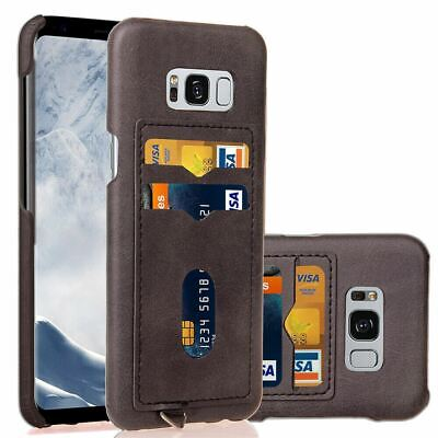 AU8.49 • Buy For Galaxy S10 S9 S8 Plus S7 Note9 8 Case Leather Slim Wallet Card Holder Cover
