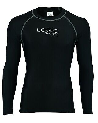 £10.99 • Buy Logic Men Full Sleeve Compression Running Armour Base Layer Top Gym Sports Shirt