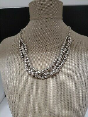 $ CDN16.28 • Buy G.H. BASS Necklace Silver Tone Ball/Beads NWT
