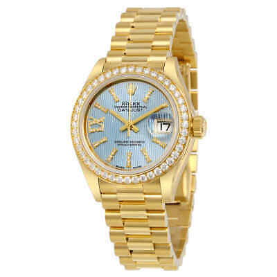 $ CDN47402.99 • Buy Rolex Lady-Datejust 18K Gold President Automatic Ladies Watch 279138BLSRDP