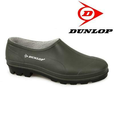 Dunlop Unisex Waterproof Green Wellies Goloshes Garden Shoes Boots Clogs 4-12 • 13.49£