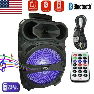 $38.99 • Buy 8  Party Bluetooth Speaker Led Portable Stereo Tailgate Loud 1000 Watts System