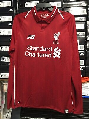 0ddbaff76 New Balance Liverpool Fc Home Jersey Red And White Long Sleeve Size XL Only  • 110.00