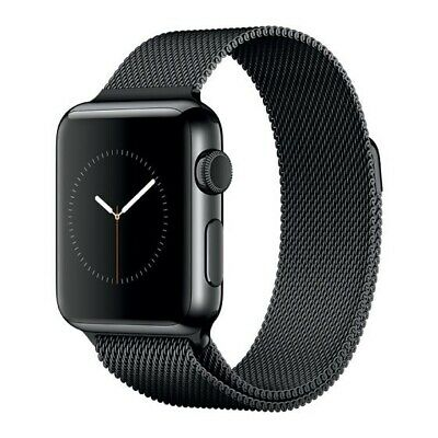 $ CDN446.87 • Buy Apple Watch S2 42mm Stainless Steel Black Milanese Loop (MNQ12LL/A)