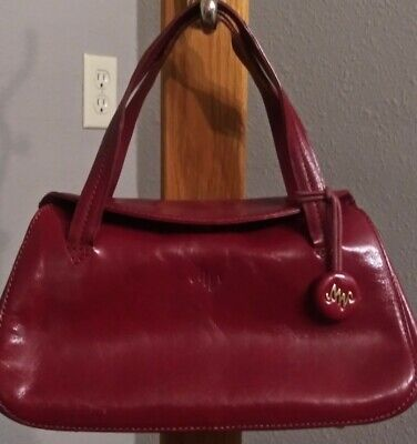 d868861fbce Monsac Original Red Leather Handbag Small Size • 22.99$