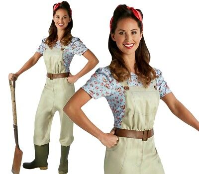 Adult LAND GIRL 1930s 1940s Uniform Military Fancy Dress Costume Ladies WW1 WW2 • 15.90£