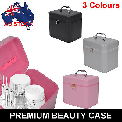 AU8.99 • Buy Large Portable Travel Beauty Case Cosmetic Makeup Vanity Case Nail Box Carry Bag