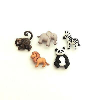 £3.99 • Buy Childrens Buttons - Zoo Animals - Novelty Buttons Cake Decorations - Zoo Cuties