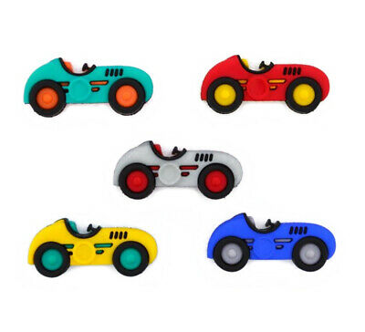 £3.99 • Buy Childrens Buttons - Speed Racers Racing Car - Novelty Buttons Cake Decorations