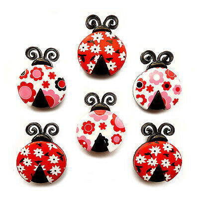 Childrens Buttons - Ladybird Love - Novelty Buttons Cake Decorations Lady Bird • 3.99£
