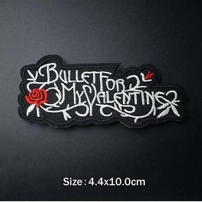 AU6.95 • Buy Bullet For My Valentine Iron On Sew On Embroidered Patch Music Bands Punk Rock