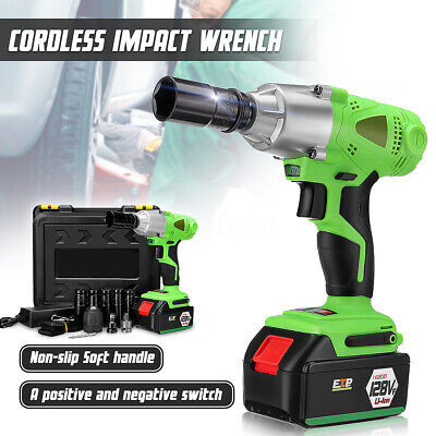 View Details 16800mAh 1/2'' Electric Cordless Impact Wrench Drill High Torque Tool Kit 128VF • 69.79$