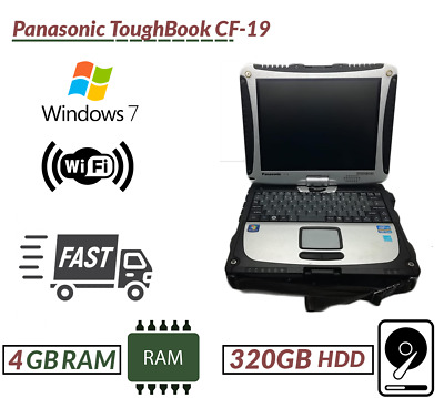 Panasonic ToughBook CF-19 Intel Core I5 4GB RAM 320GB HDD Win 7 Next Day Deliver • 249.99£