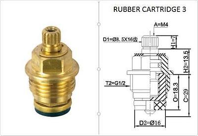 £4.95 • Buy Replacement Brass 8.5mm X 16 Rubber Tap Cartridge Valves Rc3 Gland Insert - Each