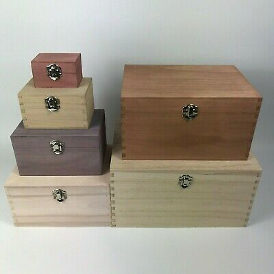 £9 • Buy Large Engraved Square Wooden Boxes Small Personalised Wood Keepsake Trinket Box