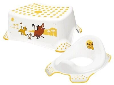 £17.99 • Buy Disney Lion King Kids Toilet Training Seat And Non Slip Step Stool For Toddlers