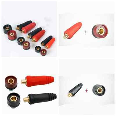 Copper DKJ Male Female Cable Connector Welder Quick Fitting Socket Plug Welding • 3.09£
